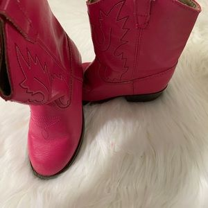 Baby Deer cowgirl boots — pink